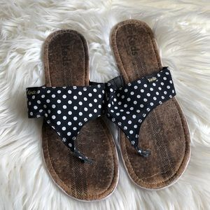 keds polka dot sandals size 9